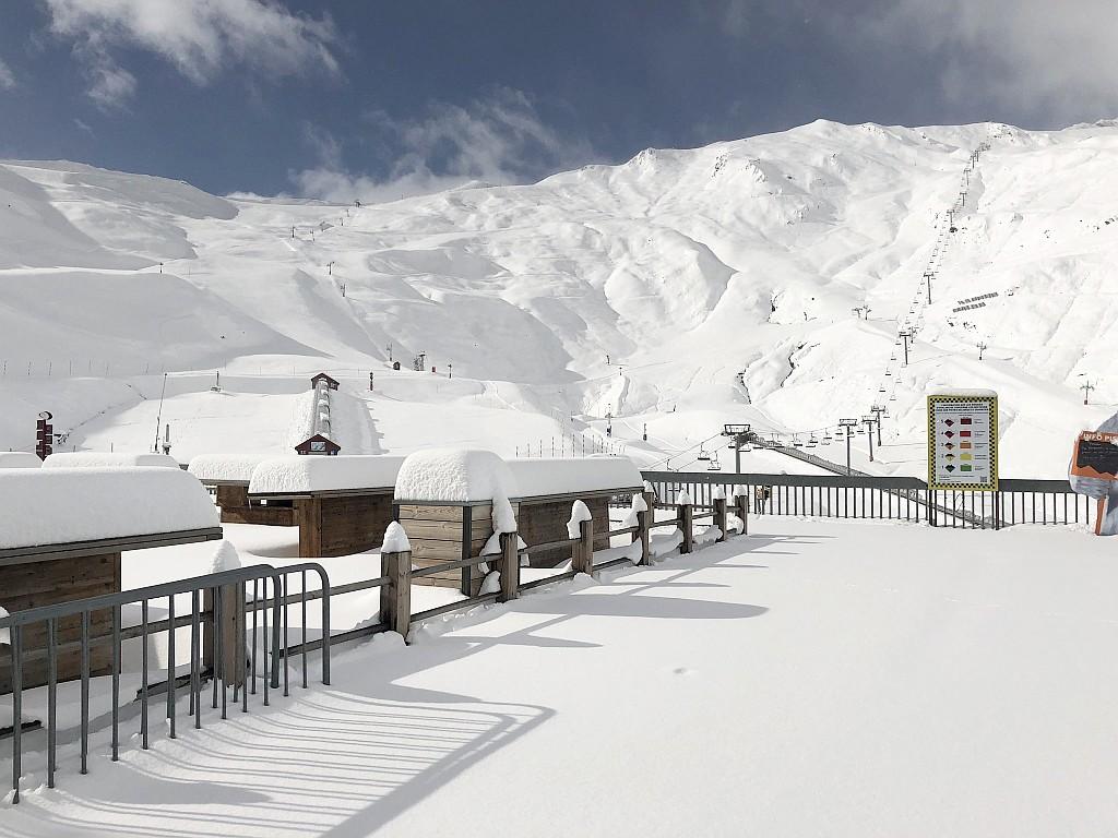 Station du Lys sous la neige