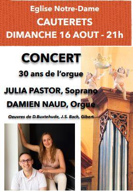 Affiche Concert 30 ans orgue